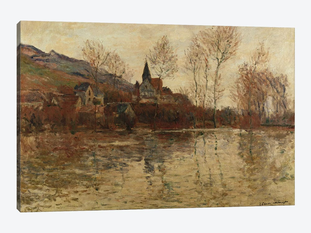 The Flood at Giverny, c.1886  by Claude Monet 1-piece Canvas Art