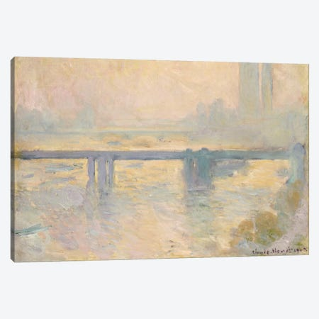 Charing Cross Bridge, 1903  Canvas Print #BMN5196} by Claude Monet Canvas Artwork