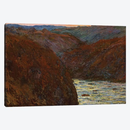La Creuse, Sunset  Canvas Print #BMN5198} by Claude Monet Canvas Art Print
