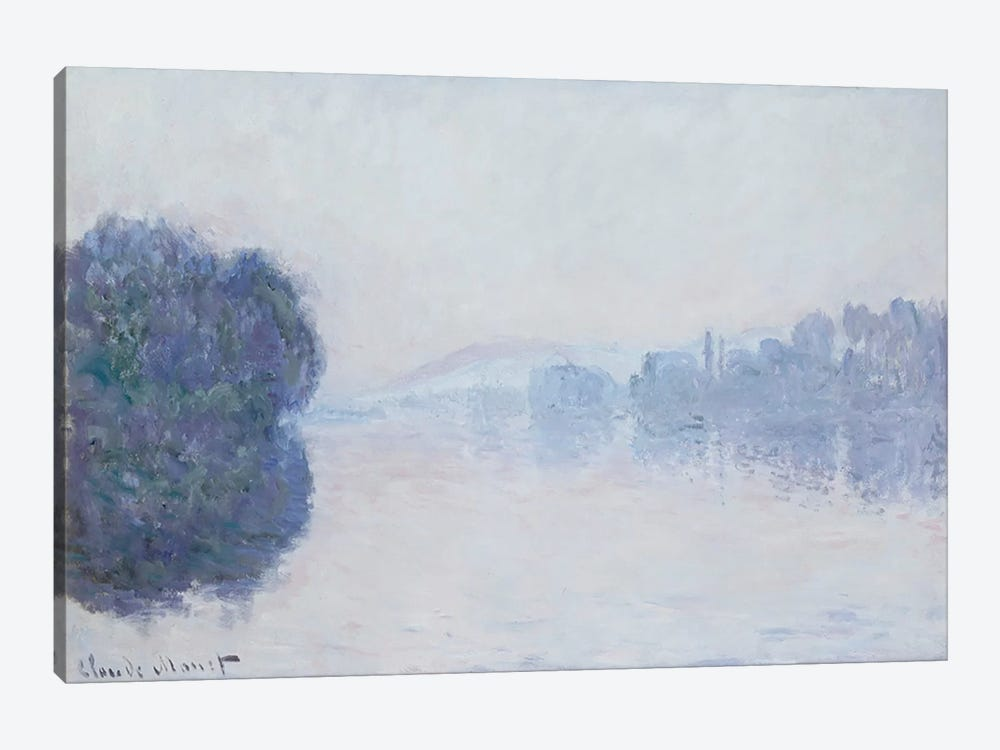 The Seine near Vernon, Morning Effect, c.1894  by Claude Monet 1-piece Canvas Wall Art