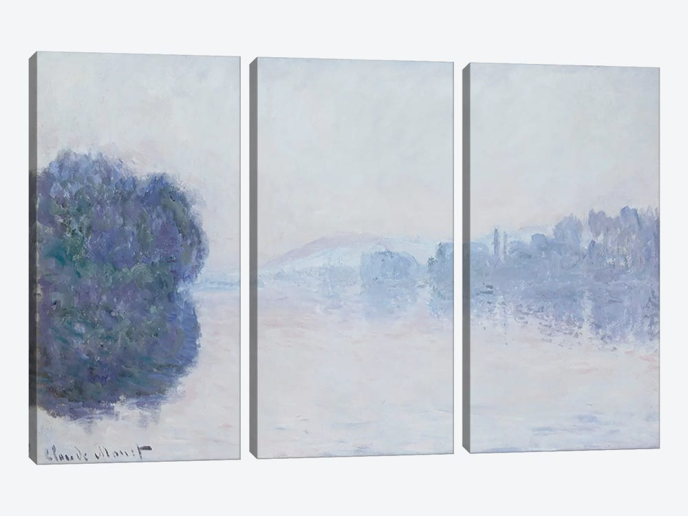 The Seine near Vernon, Morning Effect, c.1894  by Claude Monet 3-piece Canvas Wall Art