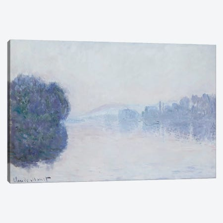 The Seine near Vernon, Morning Effect, c.1894  3-Piece Canvas #BMN5199} by Claude Monet Canvas Art Print