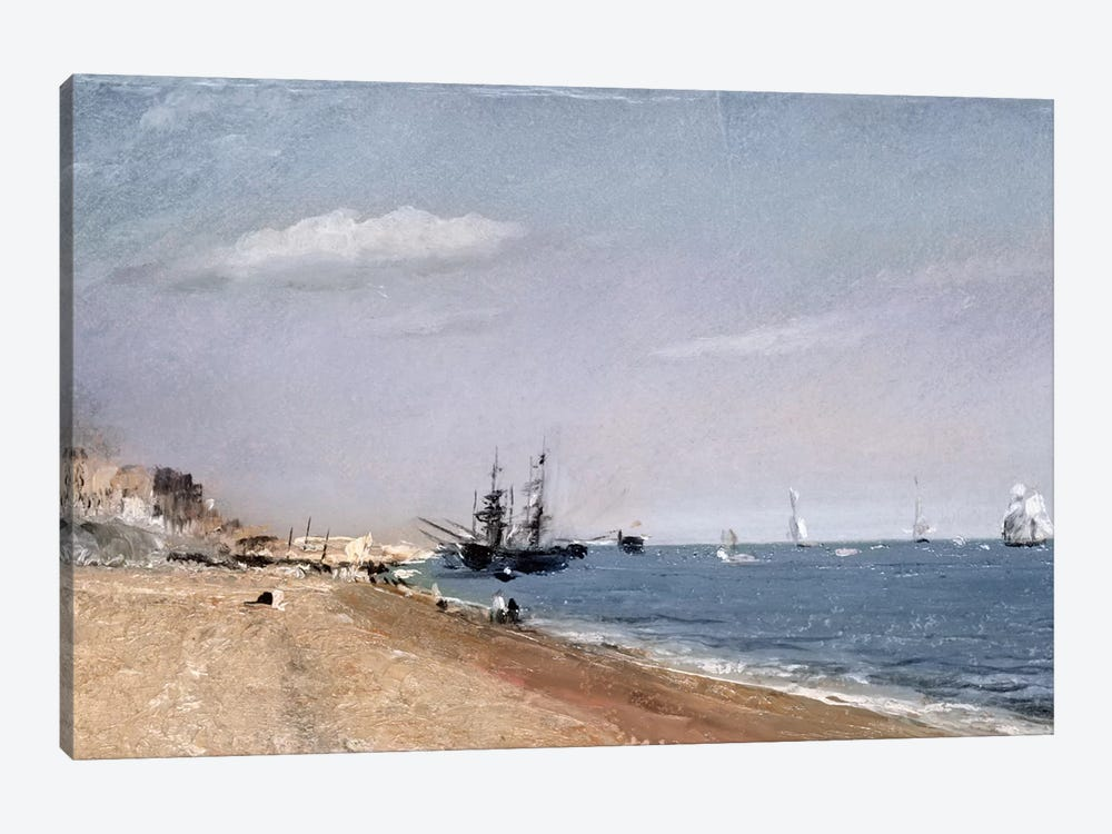 Brighton Beach with colliers, 1824  by John Constable 1-piece Art Print