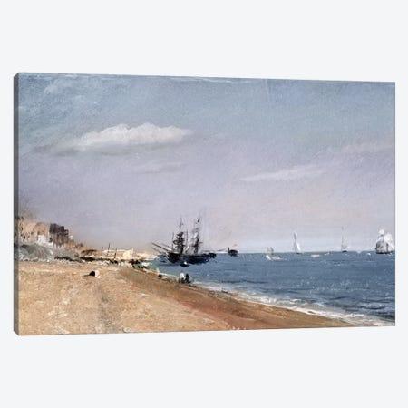 Brighton Beach with colliers, 1824  Canvas Print #BMN519} by John Constable Canvas Artwork