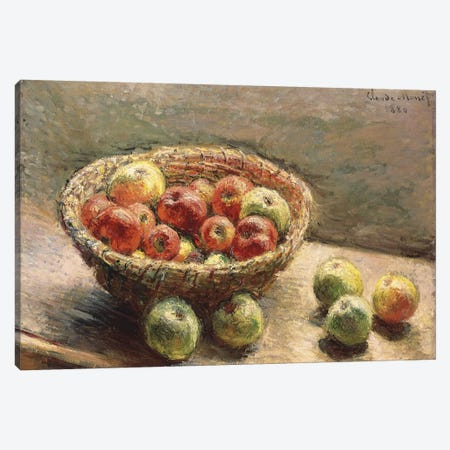 A Bowl of Apples, 1880  Canvas Print #BMN5200} by Claude Monet Canvas Art Print