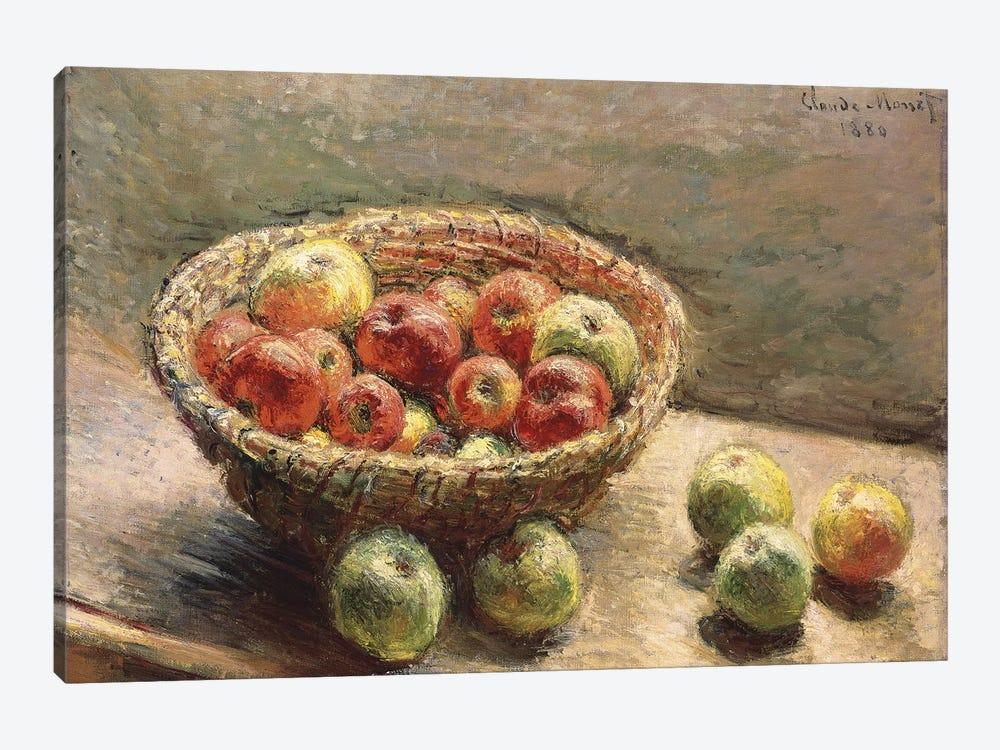A Bowl of Apples, 1880  by Claude Monet 1-piece Canvas Art