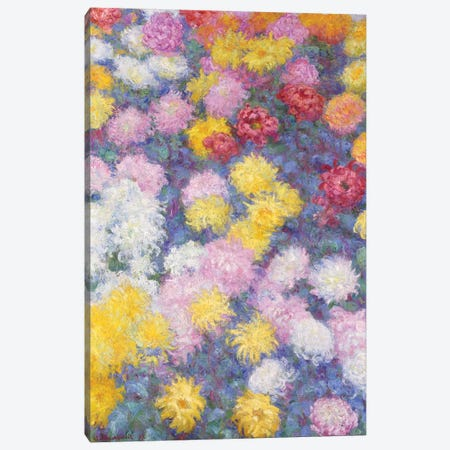 Chrysanthemums, 1897  Canvas Print #BMN5201} by Claude Monet Art Print