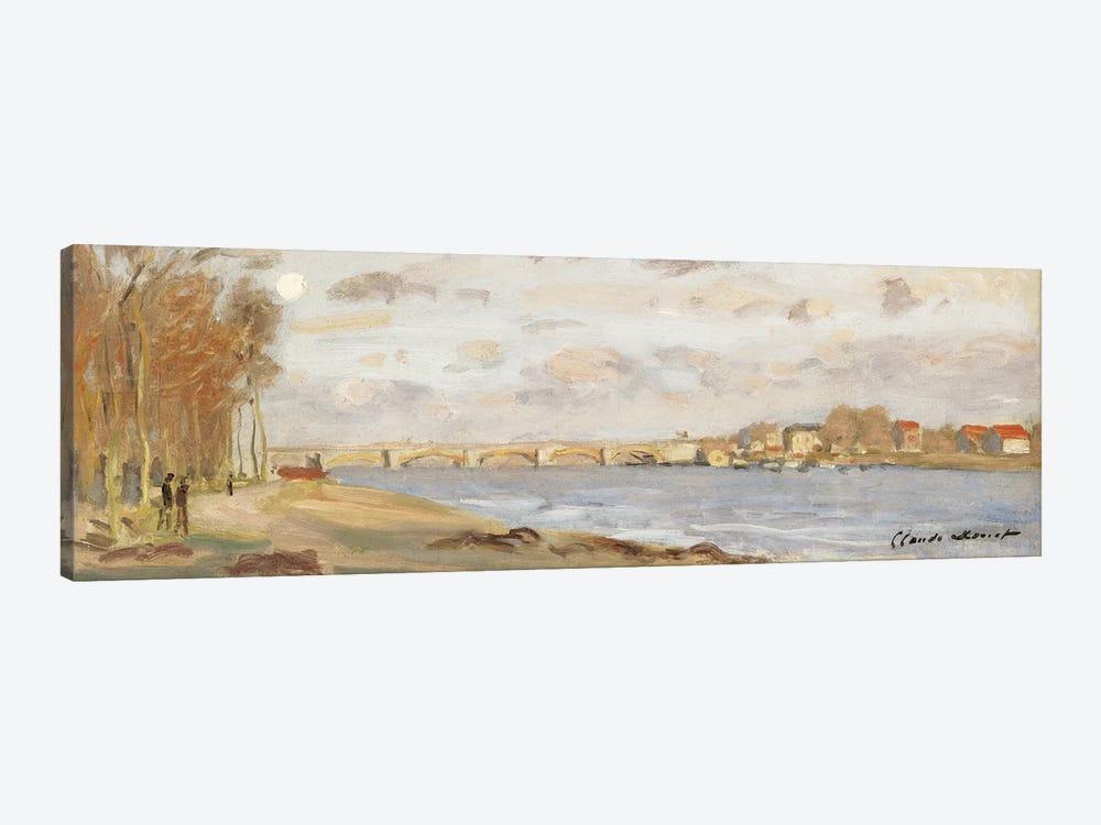 The Seine at Argenteuil, 1872  by Claude Monet 1-piece Canvas Print