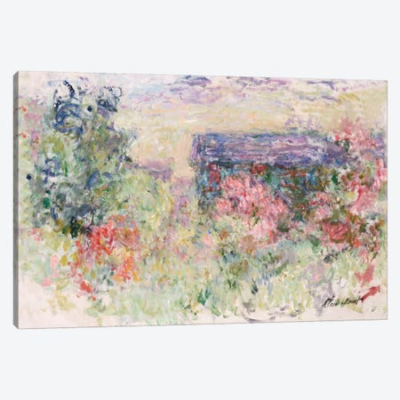 The House Through the Roses, c.1925-26  Canvas Print #BMN5204} by Claude Monet Canvas Wall Art