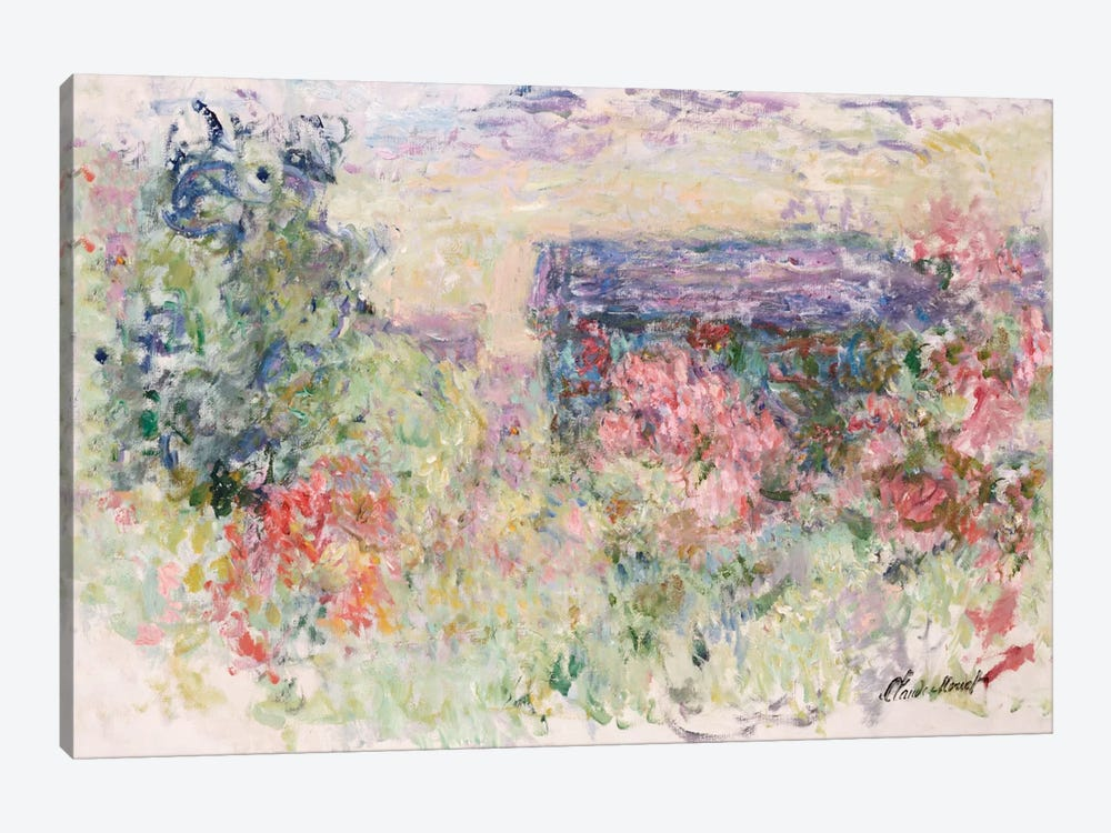 The House Through the Roses, c.1925-26  by Claude Monet 1-piece Canvas Art