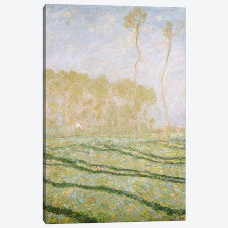 Spring Countryside at Giverny, 1894  Canvas Print #BMN5205} by Claude Monet Canvas Wall Art