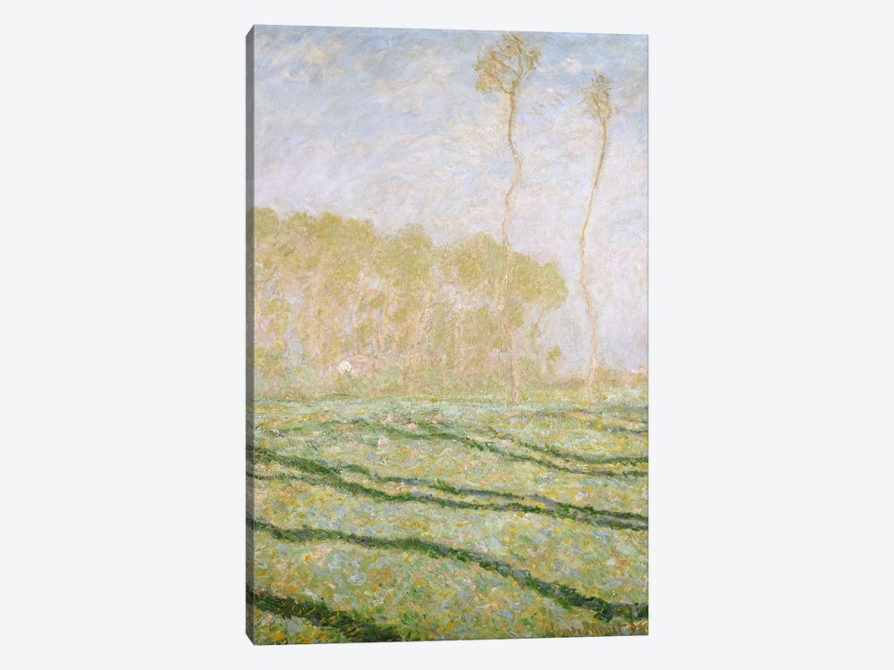 Spring Countryside at Giverny, 1894  by Claude Monet 1-piece Canvas Art Print