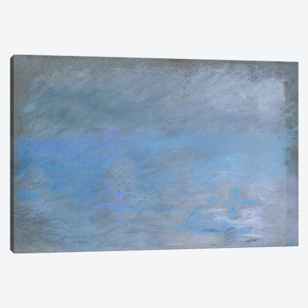 Waterloo Bridge in Fog, 1901  Canvas Print #BMN5207} by Claude Monet Canvas Artwork