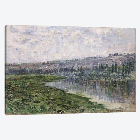 The Seine and the Hills of Chantemsle, 1880  Canvas Print #BMN5208} by Claude Monet Canvas Art Print