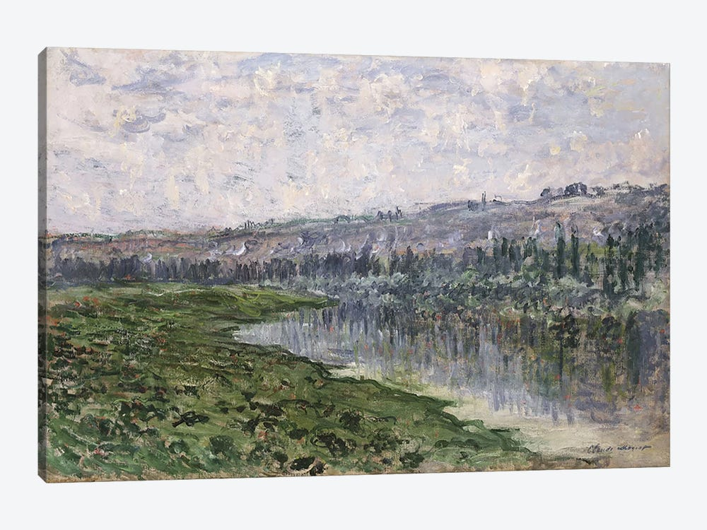 The Seine and the Hills of Chantemsle, 1880  by Claude Monet 1-piece Canvas Artwork