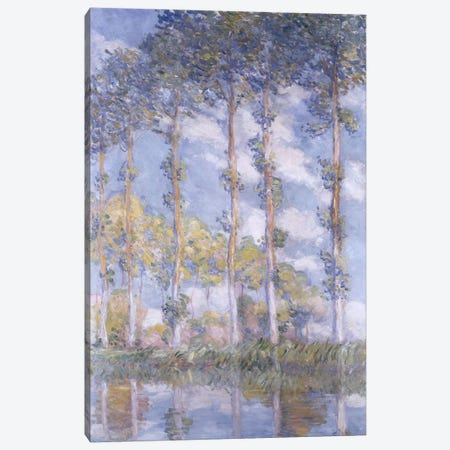 The Poplars, 1881  Canvas Print #BMN5209} by Claude Monet Canvas Art Print