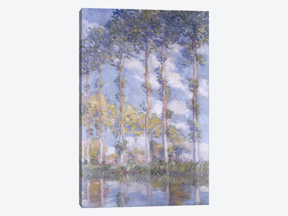 The Poplars, 1881 by Claude Monet 1-piece Canvas Print