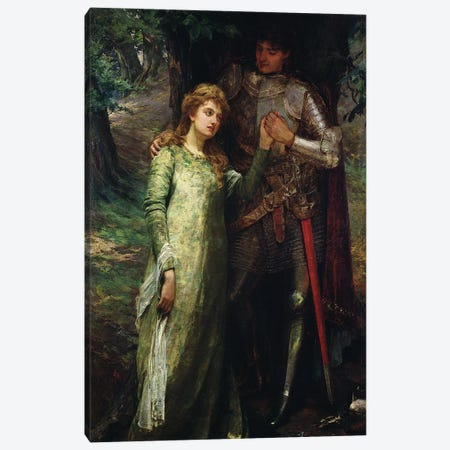 A knight and his lady Canvas Print #BMN520} by William G. Mackenzie Canvas Print