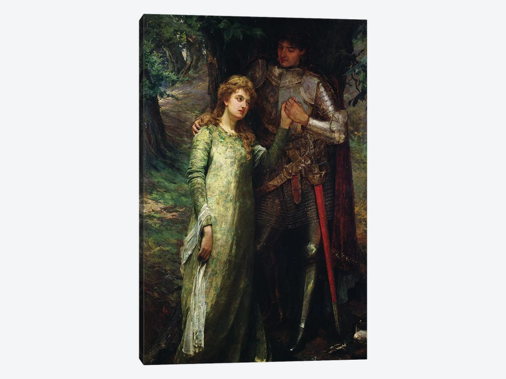 A knight and his lady by William G. Mackenzie 1-piece Art Print