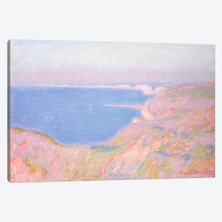 On the Cliffs near Dieppe, Sunset, 1897  Canvas Print #BMN5210} by Claude Monet Canvas Art