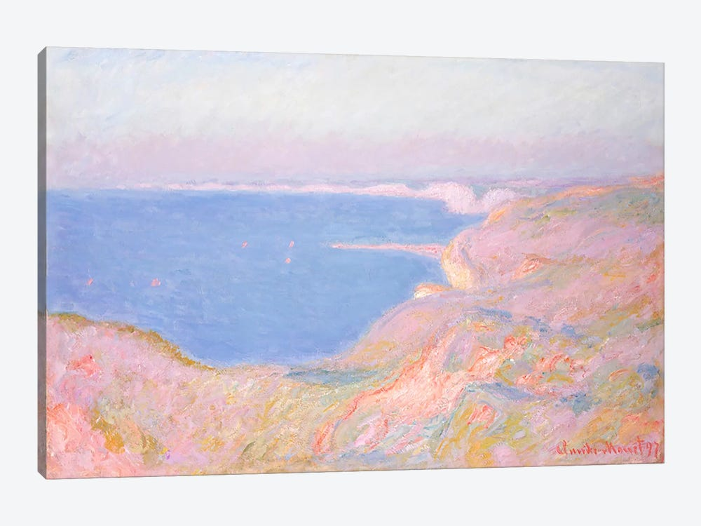 On the Cliffs near Dieppe, Sunset, 1897 by Claude Monet 1-piece Canvas Print