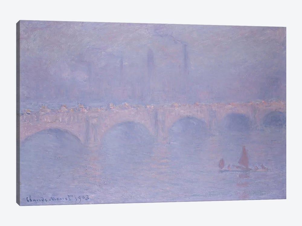 Waterloo Bridge, Hazy Sunshine  by Claude Monet 1-piece Canvas Art Print