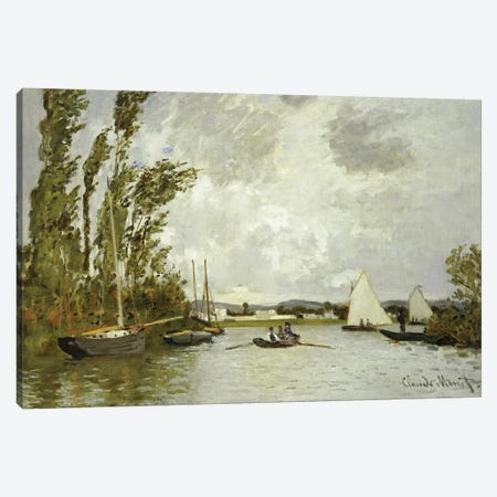 The Little Branch of the Seine at Argenteuil  Canvas Print #BMN5218} by Claude Monet Canvas Artwork