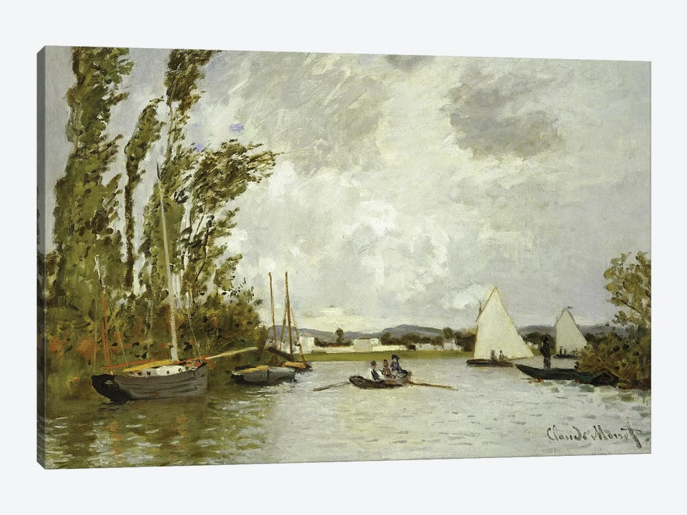 The Little Branch of the Seine at Argenteuil  by Claude Monet 1-piece Canvas Print