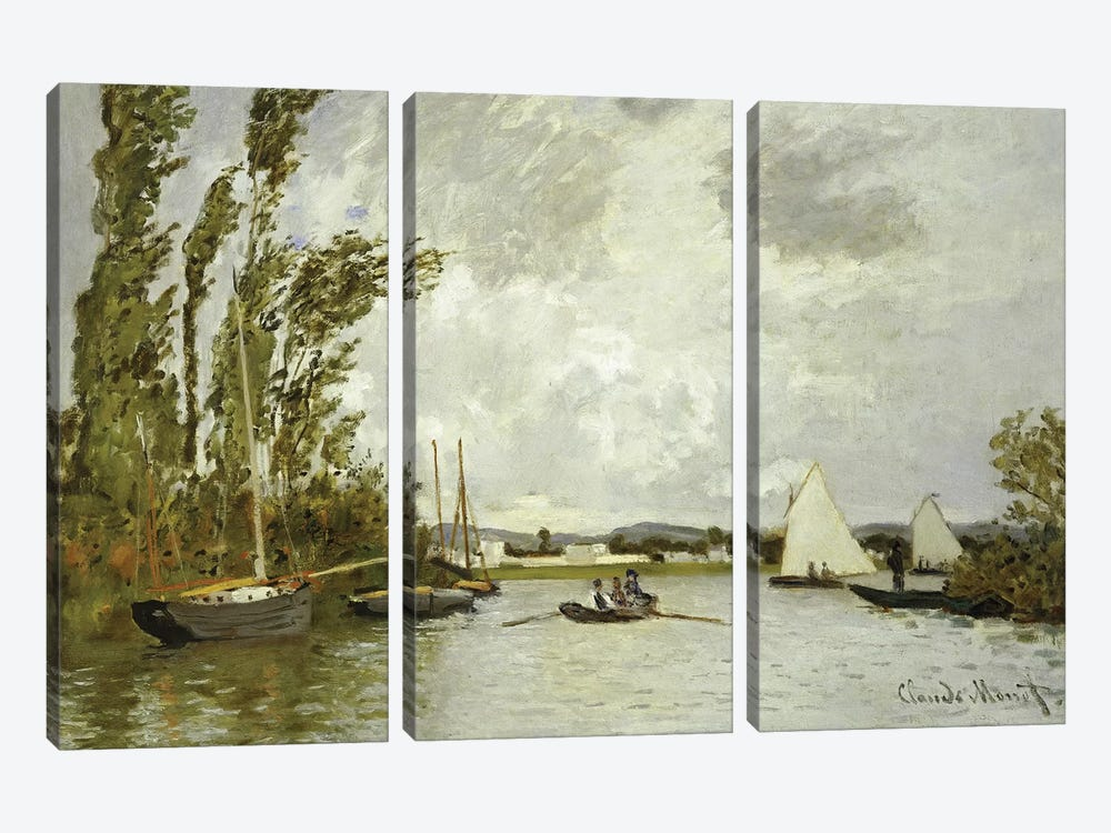 The Little Branch of the Seine at Argenteuil  by Claude Monet 3-piece Art Print