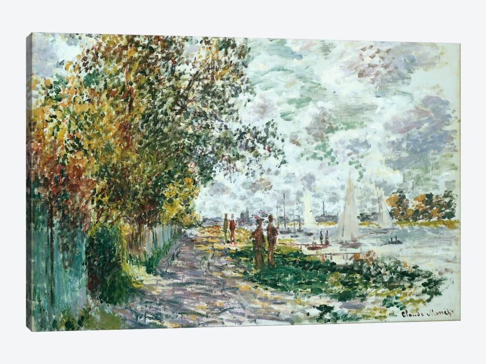 La Berge du Petit-Gennevilliers, c.1875  by Claude Monet 1-piece Canvas Wall Art