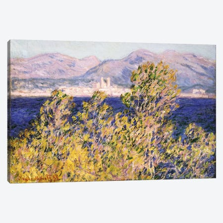 View of the Cap d'Antibes with the Mistral Blowing, 1888  Canvas Print #BMN5220} by Claude Monet Canvas Print