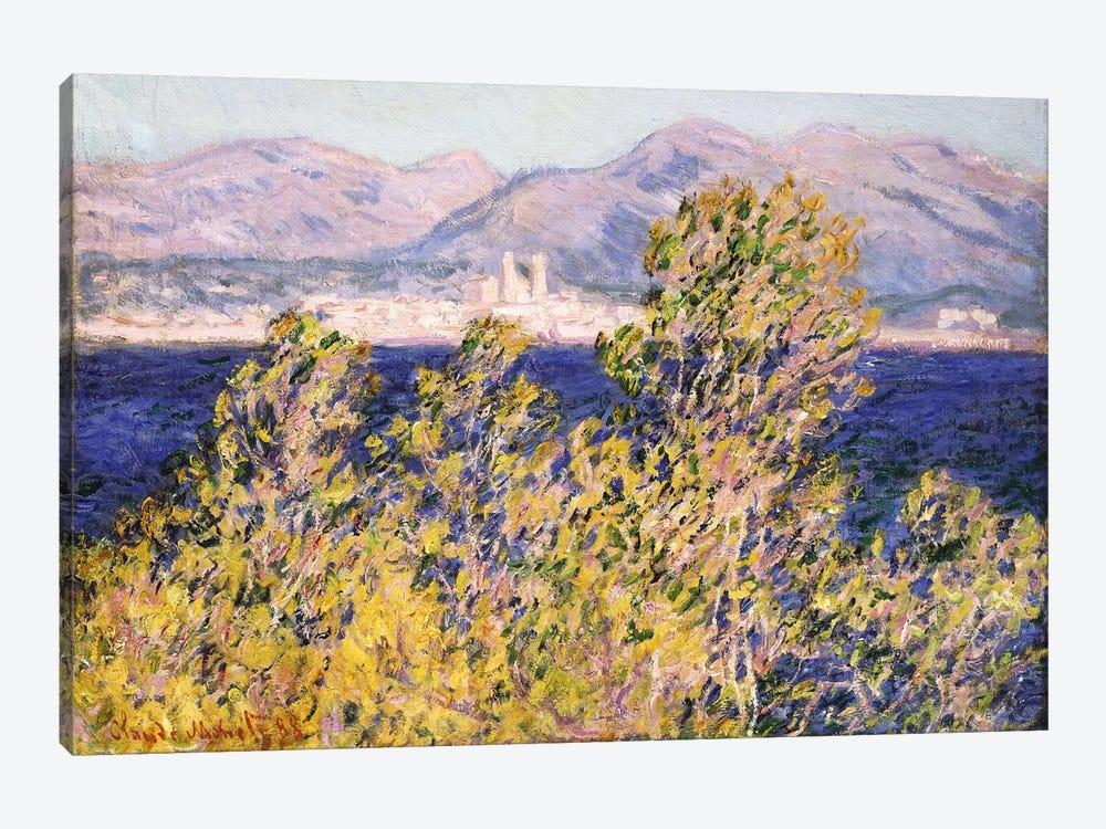 View of the Cap d'Antibes with the Mistral Blowing, 1888  by Claude Monet 1-piece Canvas Artwork