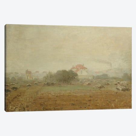 Fog, 1872  3-Piece Canvas #BMN5221} by Claude Monet Canvas Print