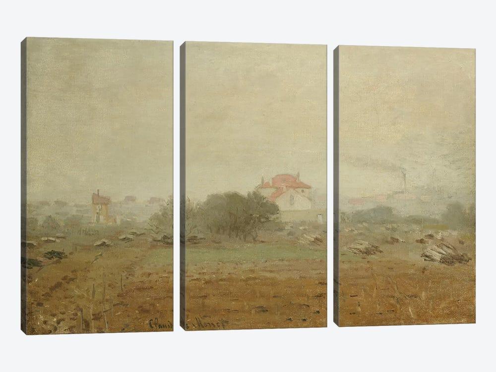 Fog, 1872  by Claude Monet 3-piece Art Print