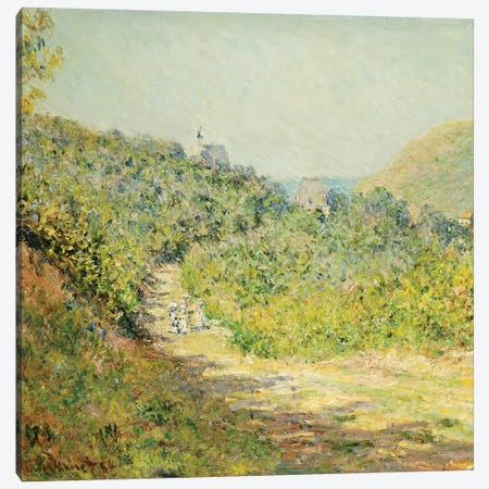 Aux Petites Dalles, 1884  Canvas Print #BMN5222} by Claude Monet Canvas Print