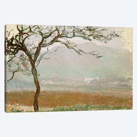 Giverny Countryside  Canvas Print #BMN5223} by Claude Monet Canvas Print
