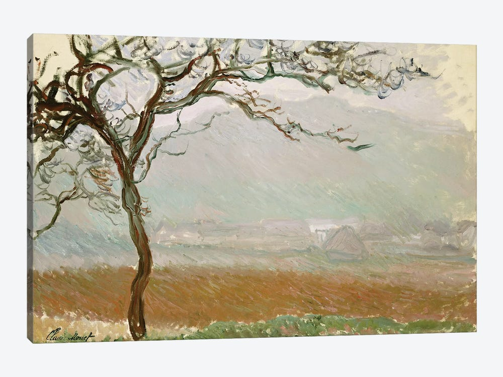 Giverny Countryside  by Claude Monet 1-piece Canvas Art Print