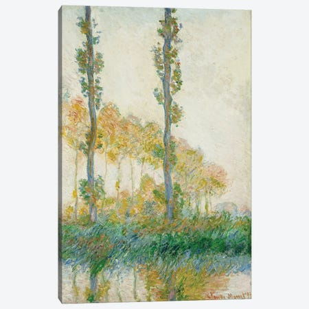 The Three Trees, Autumn, 1891  Canvas Print #BMN5224} by Claude Monet Canvas Wall Art