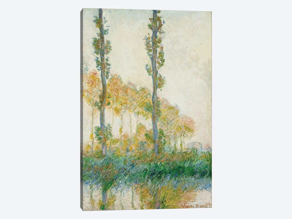 The Three Trees, Autumn, 1891  by Claude Monet 1-piece Canvas Artwork
