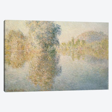 Early Morning on the Seine at Giverny, 1893  Canvas Print #BMN5225} by Claude Monet Canvas Wall Art