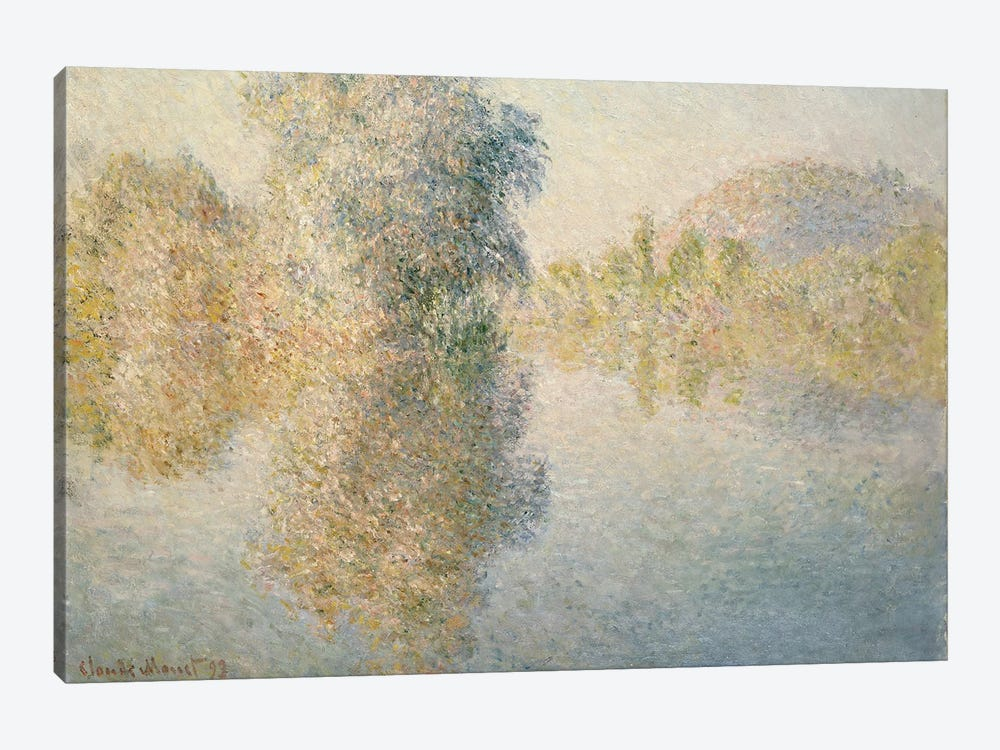 Early Morning on the Seine at Giverny, 1893  by Claude Monet 1-piece Art Print