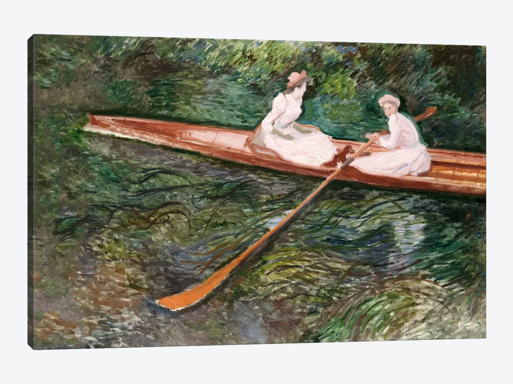 The Pink Rowing Boat by Claude Monet 1-piece Canvas Art