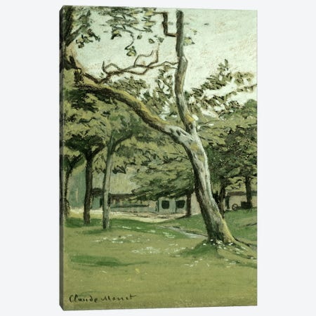Normandy Farm under the Trees  Canvas Print #BMN5227} by Claude Monet Canvas Art