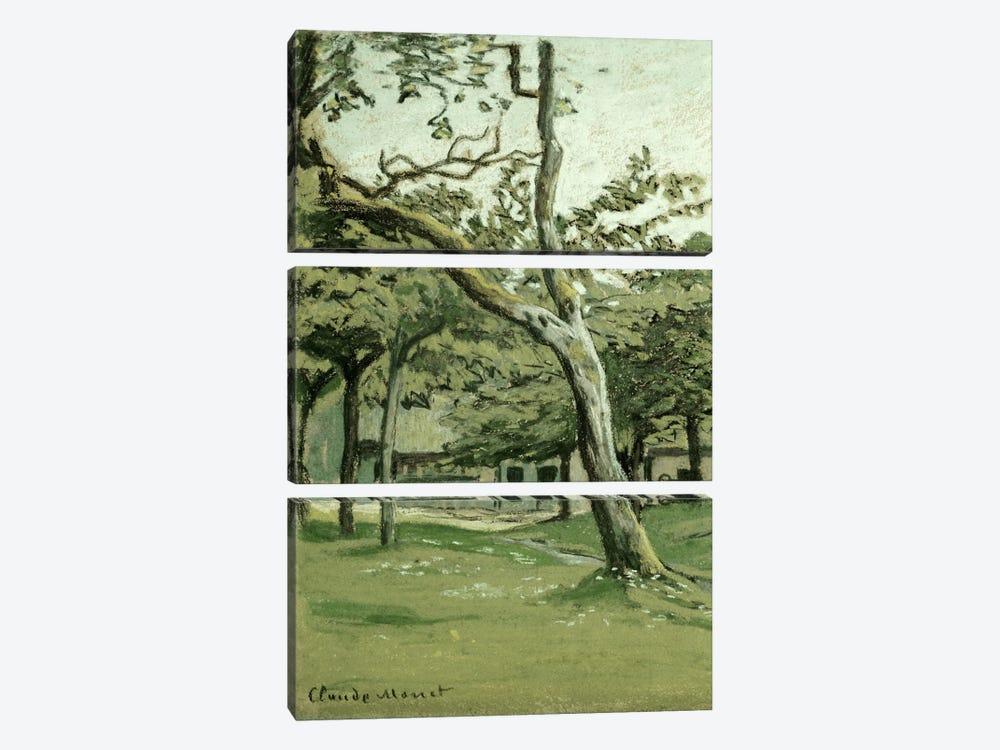 Normandy Farm under the Trees  by Claude Monet 3-piece Canvas Art Print