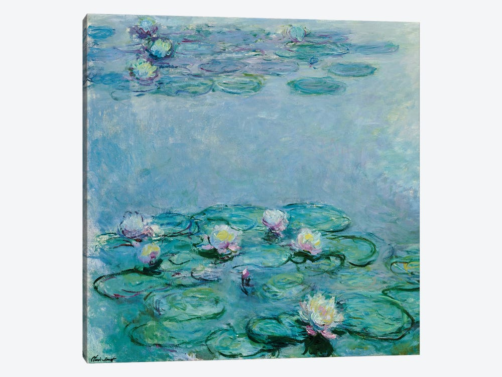 Water Lilies  by Claude Monet 1-piece Canvas Artwork
