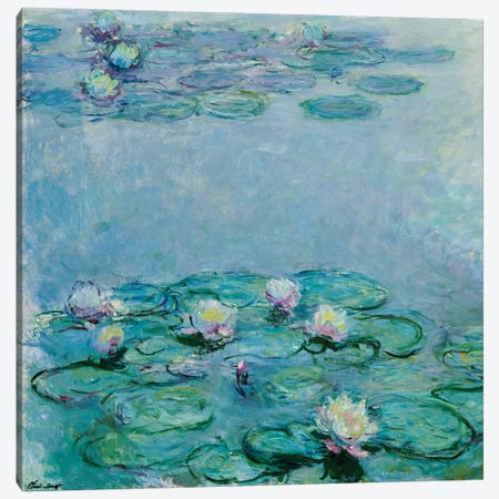 Water Lilies  Canvas Print #BMN5228} by Claude Monet Canvas Print