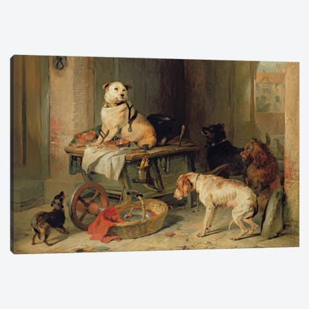 A Jack in Office, c.1833  Canvas Print #BMN522} by Sir Edwin Landseer Canvas Print