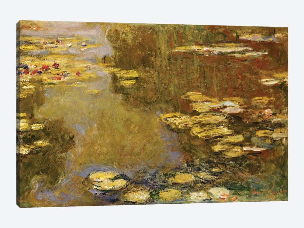 The Lily Pond  by Claude Monet 1-piece Canvas Art Print