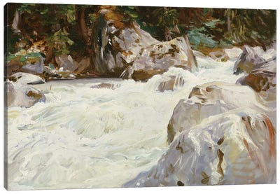 A Torrent in Norway, 1901  Canvas Art Print