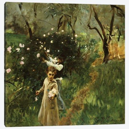 Gathering Flowers at Twilight  Canvas Print #BMN5235} by John Singer Sargent Canvas Print